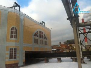 Монтаж фальш фасада