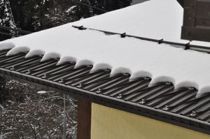 Теплый кабель на крыше