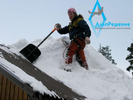 чистка кровли от снега и наледи