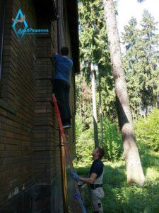 монтаж водостоков для крыши цена