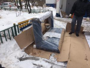 Подготовка дивана к подъему