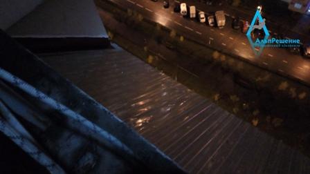 Монтаж козырька балкона