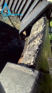 Удаление от ржавчины, покраска, и частичная замена колпаков дымовой трубы