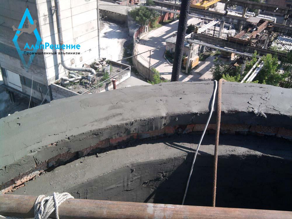 Оголовок дымовой трубы после ремонта