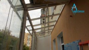 Поликарбонат на балконе