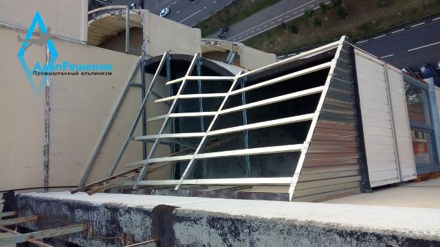 Торец балкона из профилей кнауф