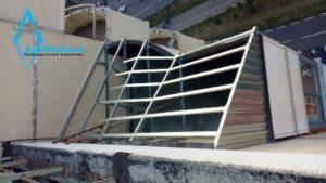 Крыша балкона из профилей