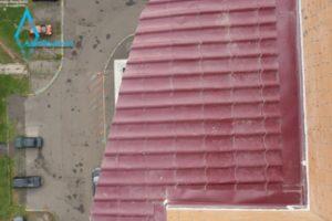 Балкон из металлочерепицы