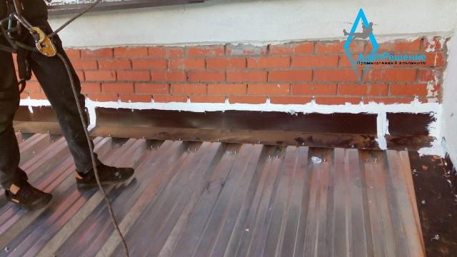 Профильный лист на крышу балкона