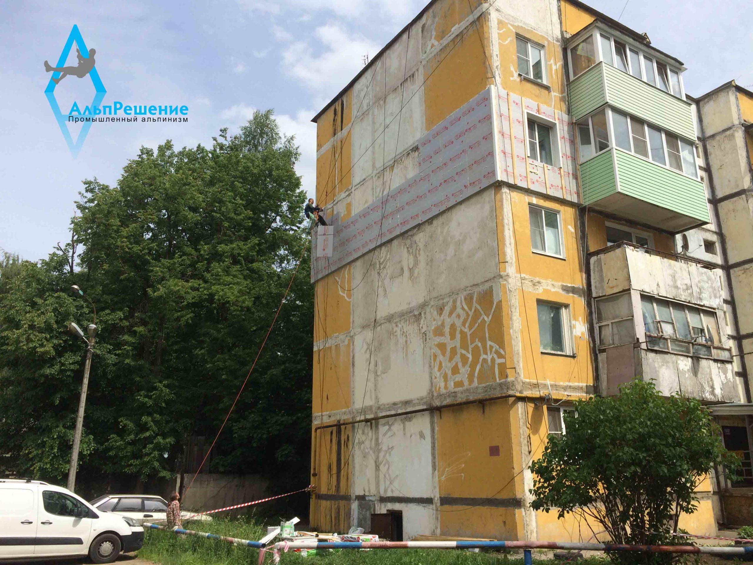 Пеноплекс на торце фасада