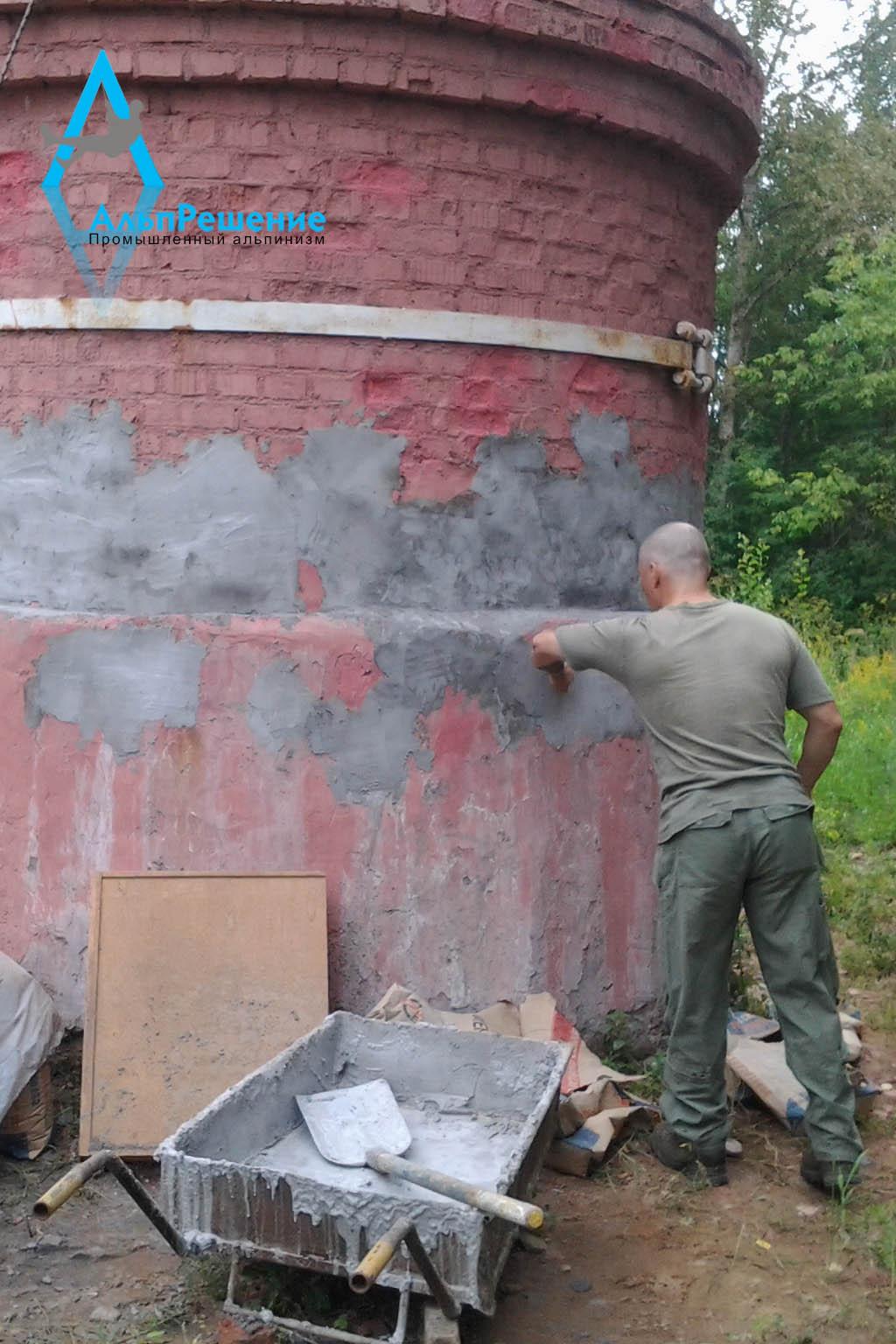ремонт кирпичных дымовых труб