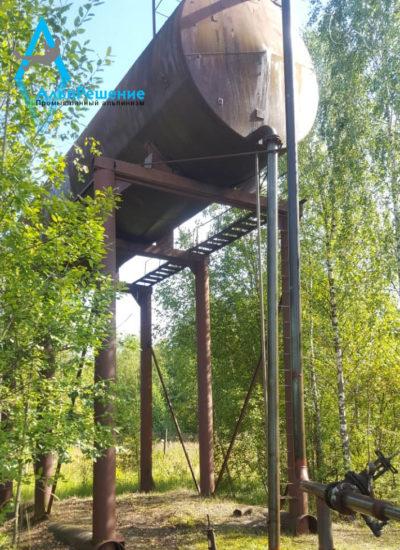 водонапорная башня течет